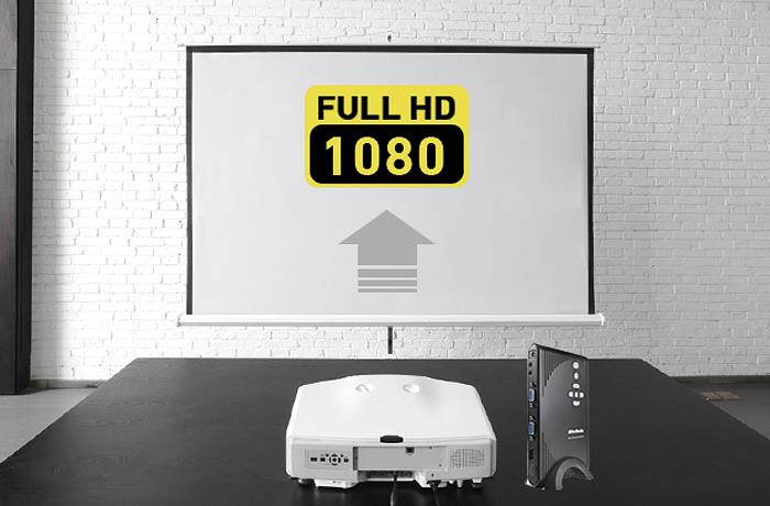 Upscales videos to 1080p.