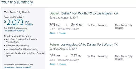 american airlines value pricing