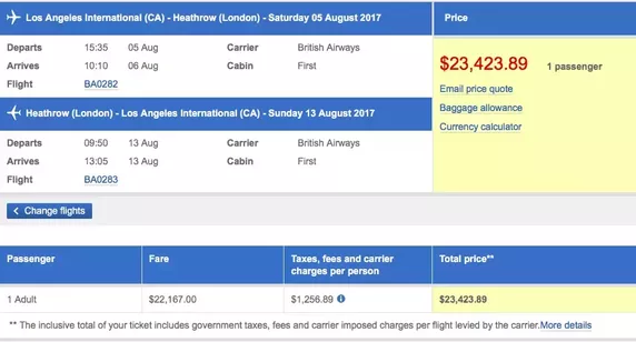 Why Are First Class Airline Tickets So Expensive? - $23,400 | AardvarkCompare.com