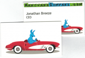 AardvarkCompare Business Card - Never Lose Luggage