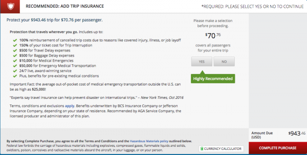Delta Travel Insurance - $71 | AardvarkCompare.com