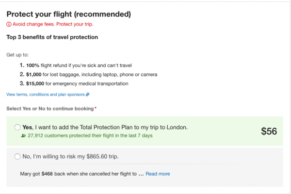 Expedia Travel Insurance - SFO - LHR $56 | AardvarkCompare.com