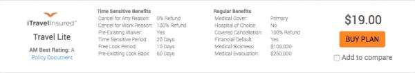 Expedia Travel Insurance - SFO - NYC - iTI Lite $19   AardvarkCompare.com