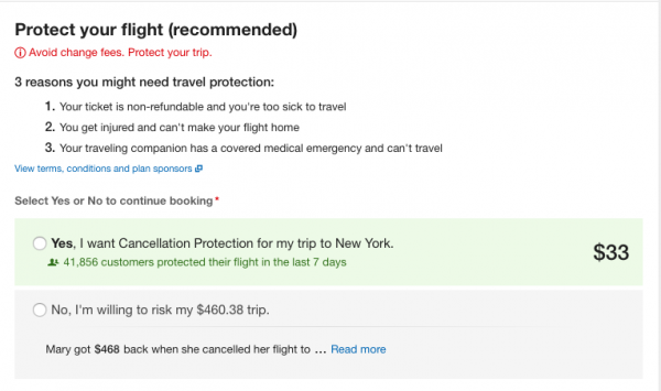 Expedia Travel Insurance - SFO - NYC $33 | AardvarkCompare.com