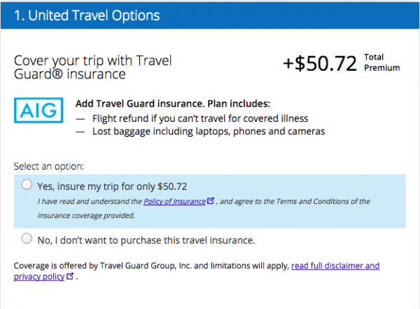 United Airlines Travel Insurance - $51 from AIG | AardvarkCompare.com