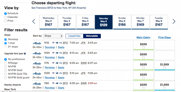 Alaska Airlines Travel Insurance - Flight Grid Refundable | AardvarkCompare.com