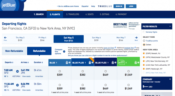 JetBlue Travel Insurance - Refundable | AardvarkCompare.com