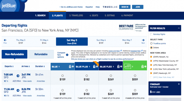 JetBlue Travel Insurance - Non Refundable | AardvarkCompare.com