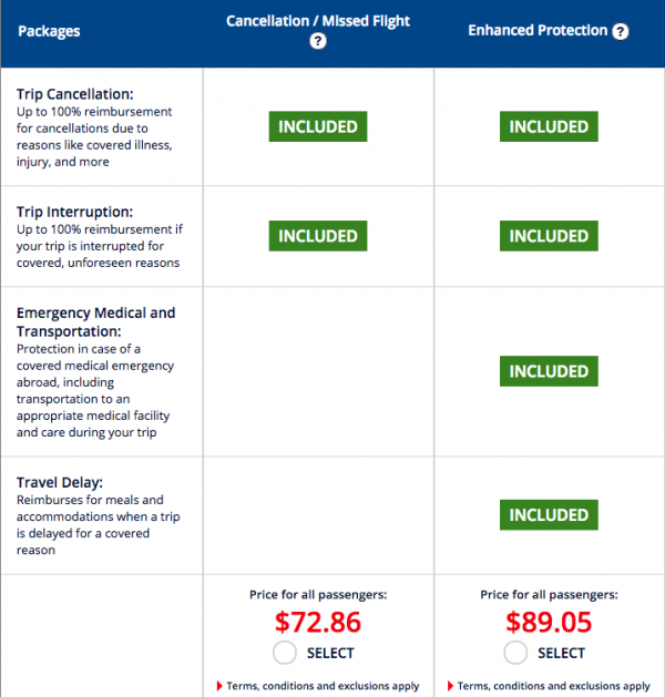 Air France Travel Insurance $73 or $89