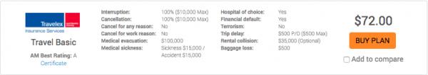 Travelex Basic $72