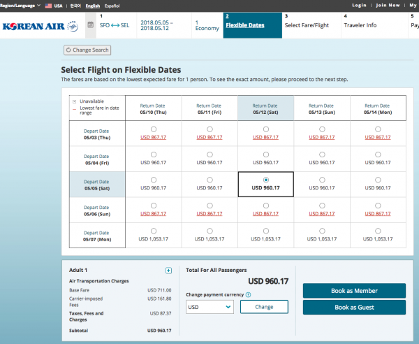 Korean Air Flight Insurance - Flight Grid | AardvarkCompare.com