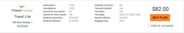 Qatar Airways Travel Insurance iTI Lite | AardvarkCompare.com