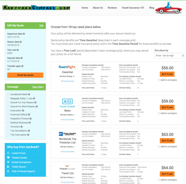 Best Pre-Existing Medical Condition Travel Insurance - AardvarkCompare Quote | AardvarkCompare.com
