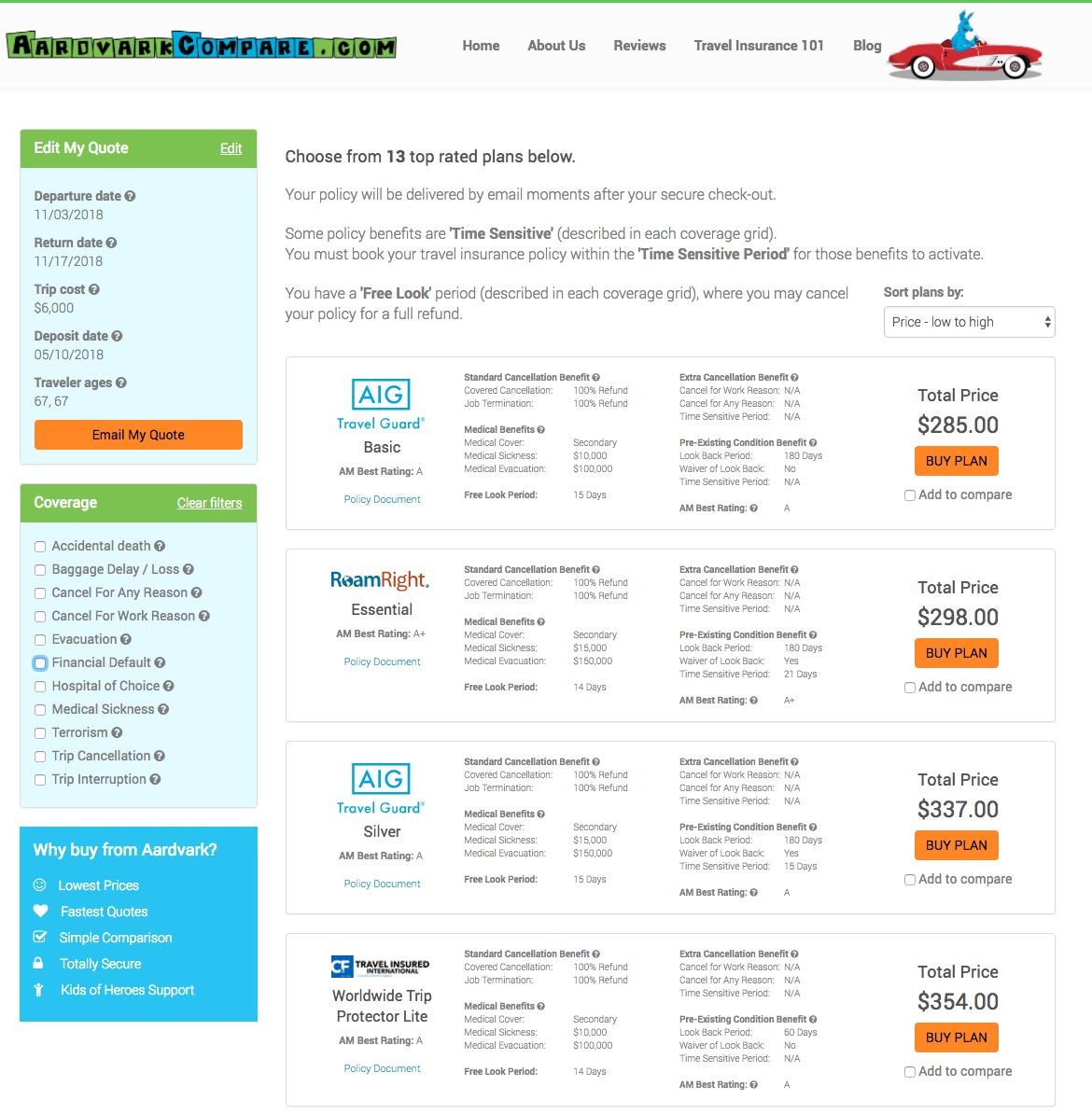 American-Express-Travel-Insurance-AardvarkCompare-Options | AardvarkCompare.com