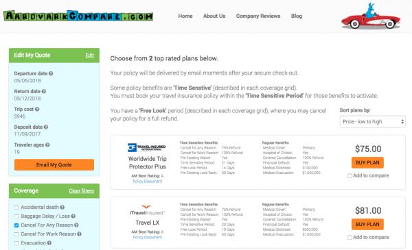Priceline Travel Insurance - Aardvark Cancel for Any Reason Options | AardvarkCompare.com