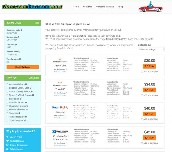 Allianz Travel Insurance Review - Domestic Travel Aardvark Options | AardvarkCompare.com