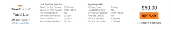 Disney Cruise Travel Insurance - iTI Lite $60   AardvarkCompare.com