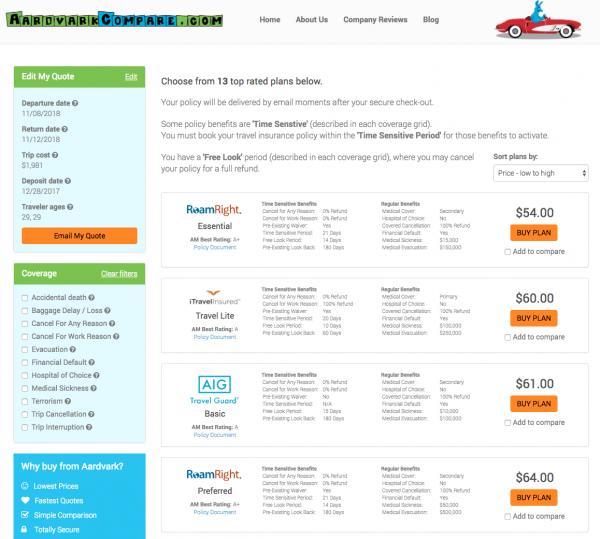 Disney Cruise Travel Insurance - Aardvark Options | AardvarkCompare.com
