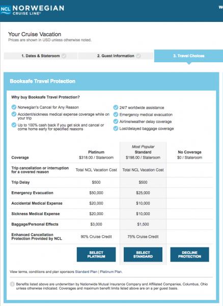 Norwegian Cruise Travel Insurance - $198 or $318 | AardvarkCompare.com