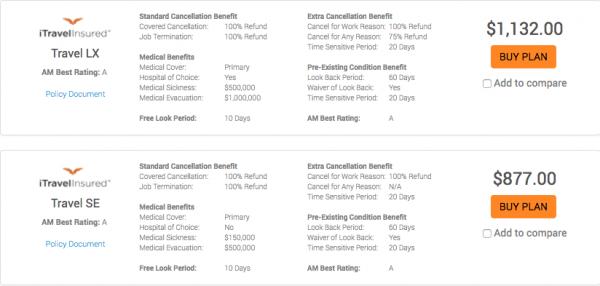 USAA Travel Insurance - $29k 5 Pax iTI | AardvarkCompare.com