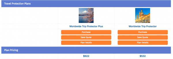 USAA Travel Insurance - $29k 5 Pax TII | AardvarkCompare.com