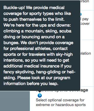 United Healthcare Travel Insurance - Extreme Sports | AardvarkCompare.com