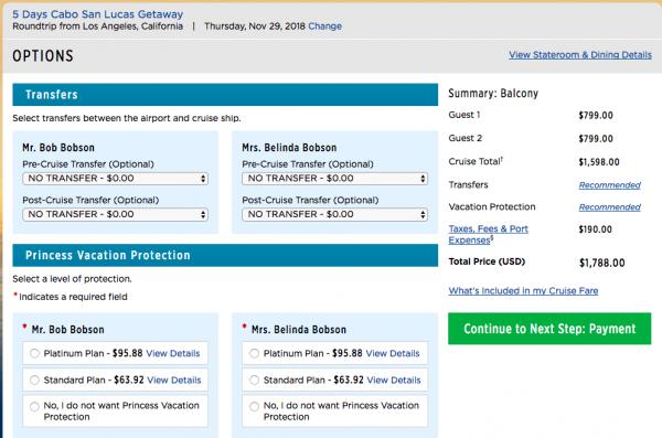Princess Cruise Travel Insurance - $1,788 Cabo | AardvarkCompare.com