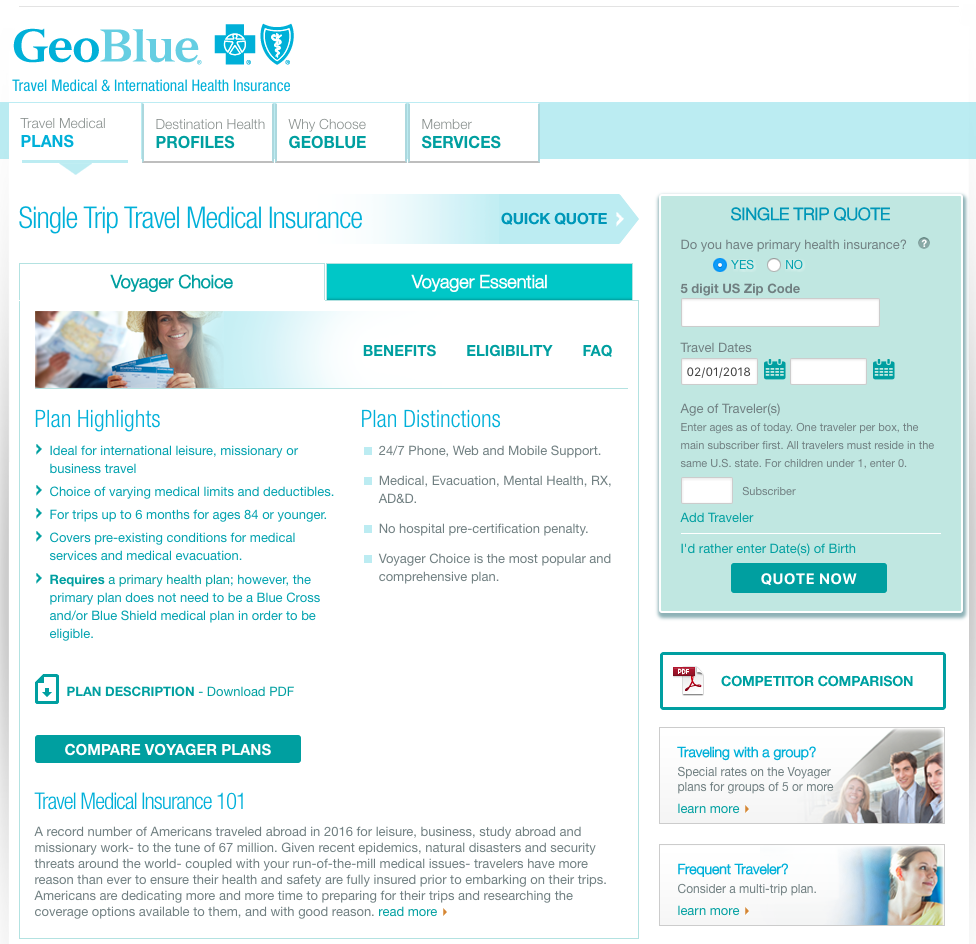 Travel Insurance Quotes Usa: GeoBlue Travel Insurance - Company Review