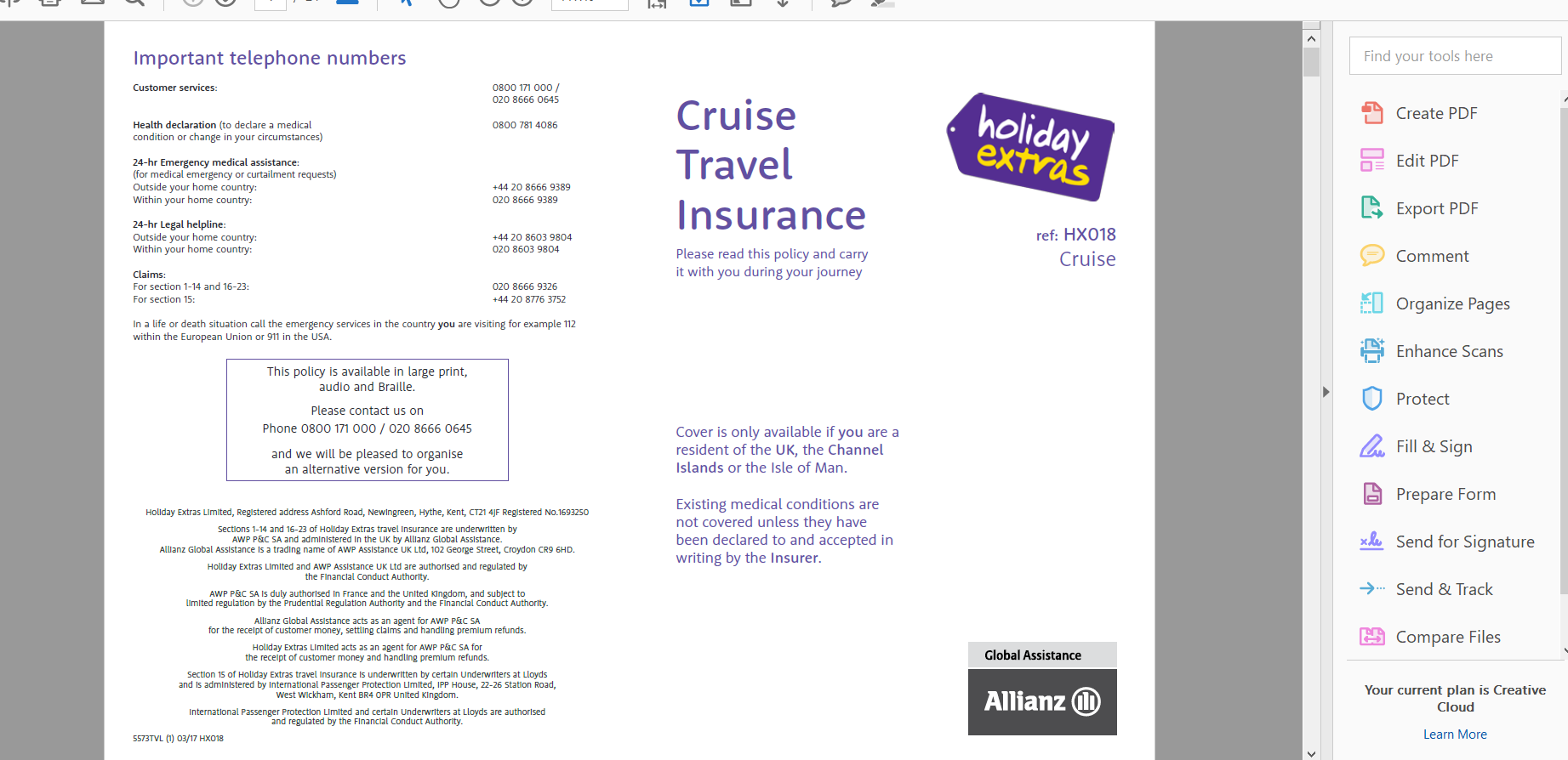 image-11-pocruises-travel-insurance-policy-document | AardvarkCompare.com