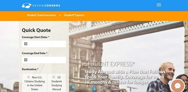 Student-Express-Travel-Medical-Insurance-Seven-Corners | AardvarkCompare.com