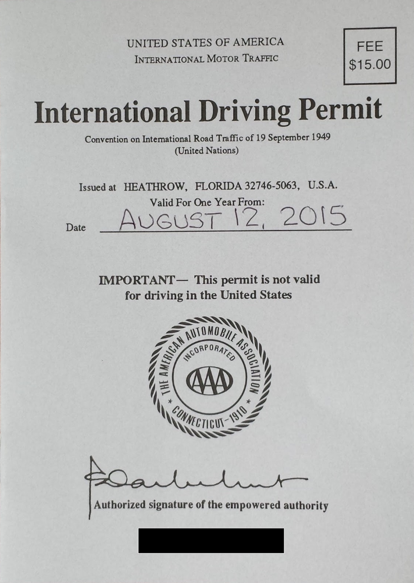 International Driving Permit – Review