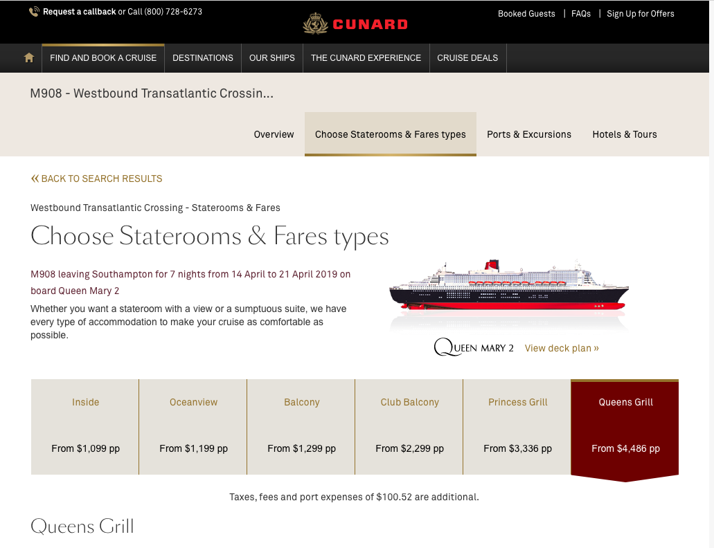 Cunard-Cruise-Line-Travel-Insurance-Queens-Grill | AardvarkCompare.com