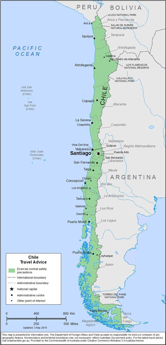 Chile Travel Health Insurance – Country Review