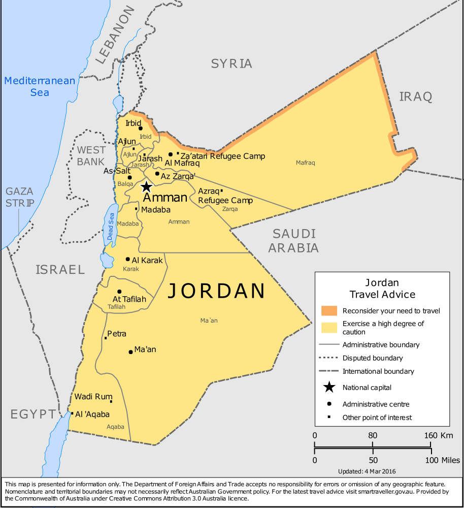 Jordan Travel Health Insurance - Country Review