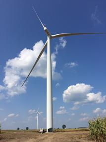 亚马逊 风力发电厂在福勒岭启动了