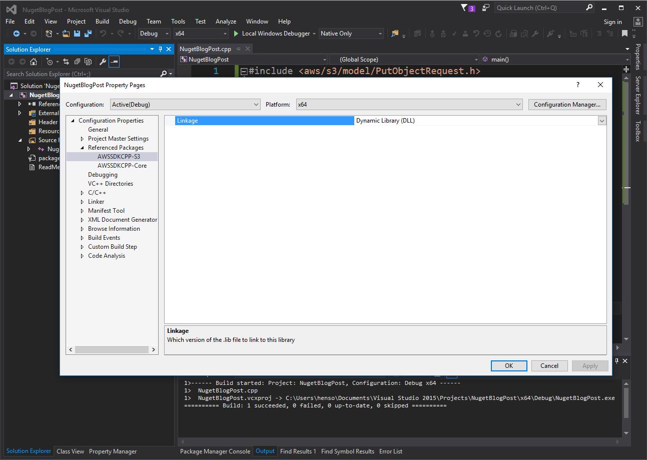 AWS SDK for C++ Now Available via  NuGet | AWS Developer Blog