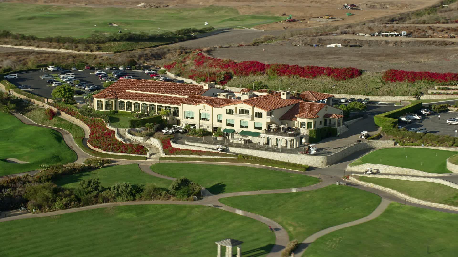 8K stock footage aerial video of Trump National Golf Club ...