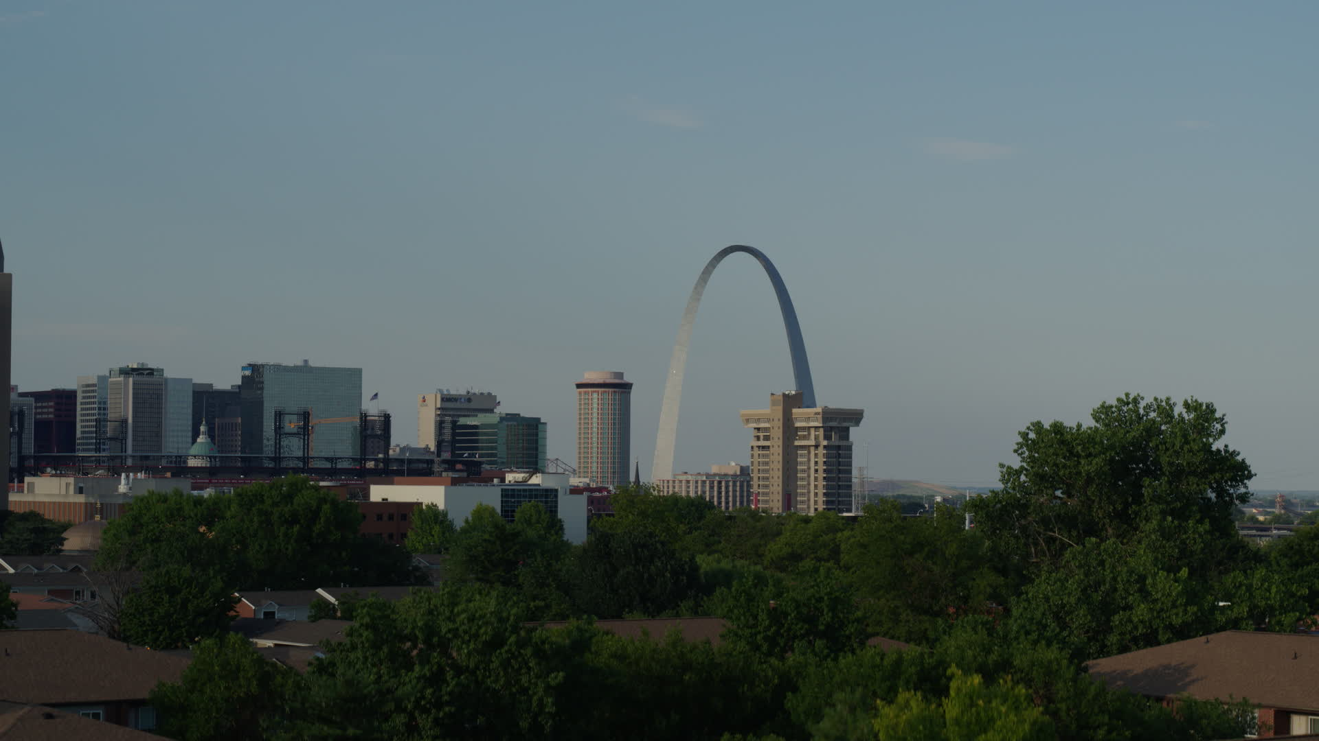 57k Stock Footage Aerial Video Of The Gateway Arch Seen While Descending Downtown St Louis Missouri Aerial Stock Footage Dx0001000828 Axiom