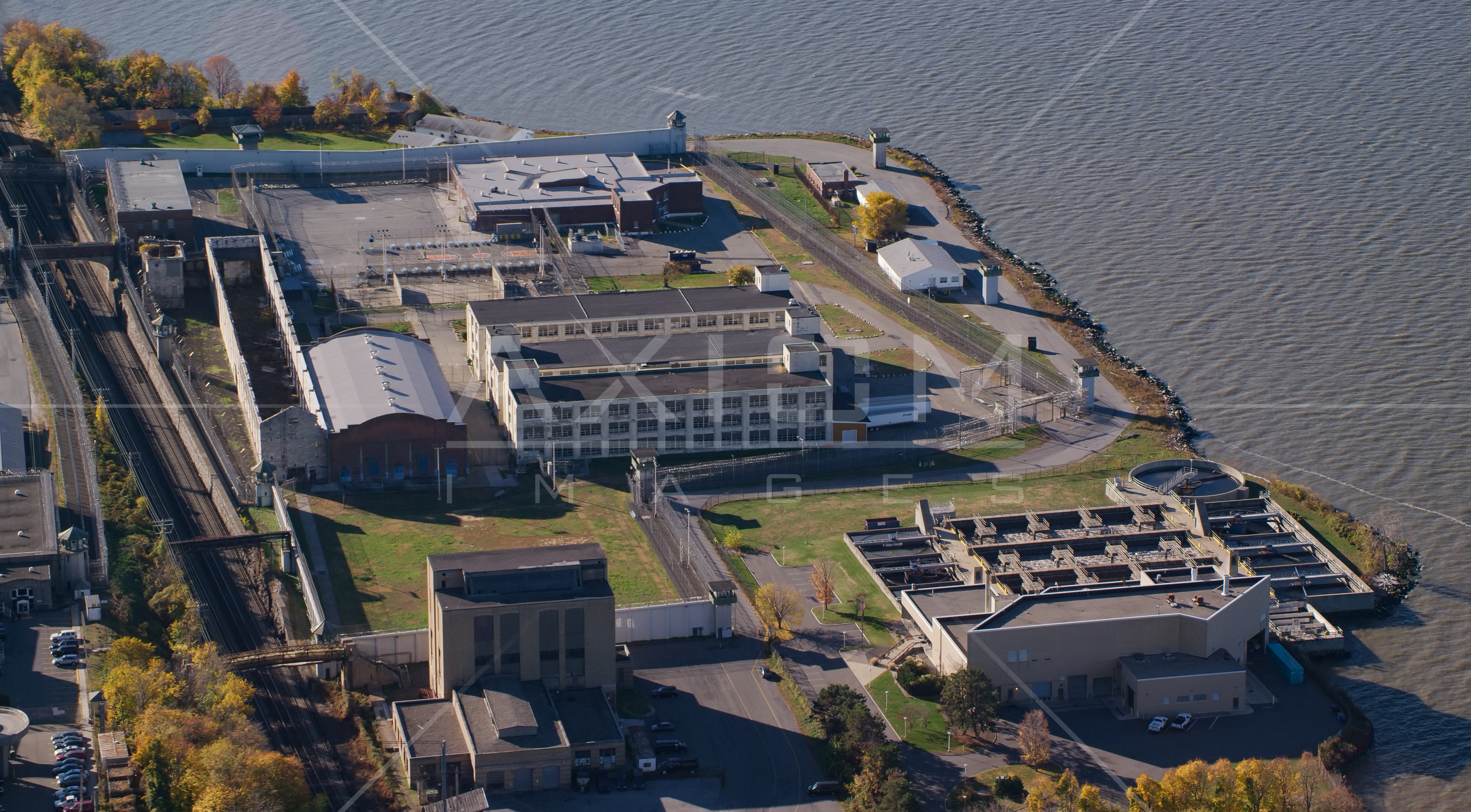 Buildings at Sing Sing Correctional Facility in Autumn