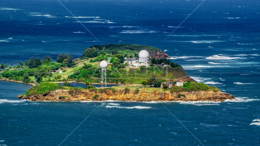 Punta Salinas Radar Site in Toa Baja, Puerto Rico Aerial Stock Photos | AX101_027.0000000F