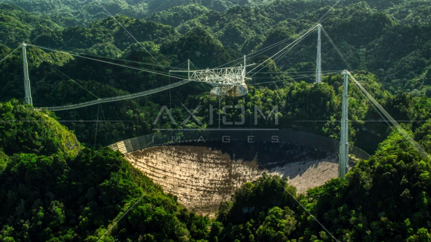 The Arecibo Observatory and Karst forest, Puerto Rico  Aerial Stock Photos | AX101_107.0000218F