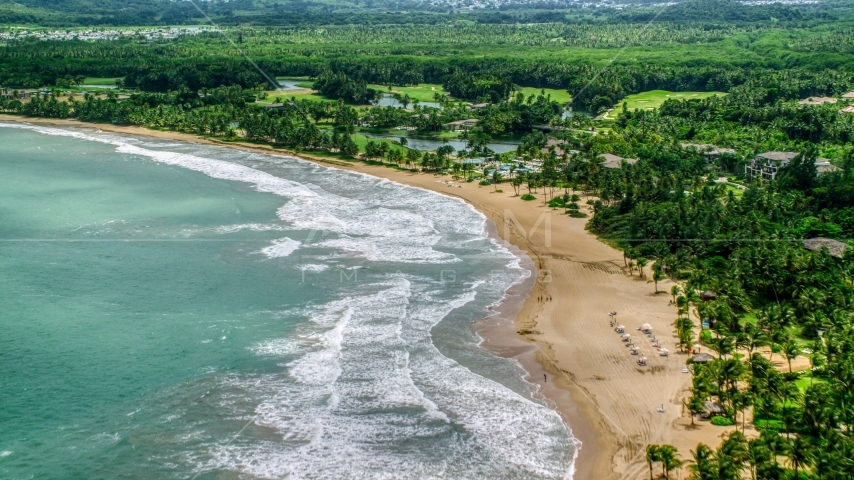 The St. Regis Bahia Beach Resort in Rio Grande, Puerto Rico  Aerial Stock Photos | AX102_039.0000182F