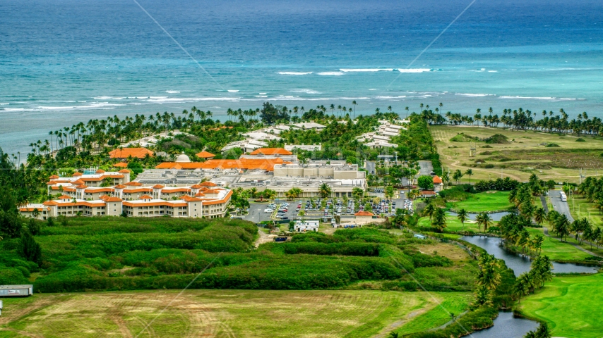 The Gran Melia Golf Resort in Rio Grande, Puerto Rico  Aerial Stock Photo AX102_042.0000120F | Axiom Images