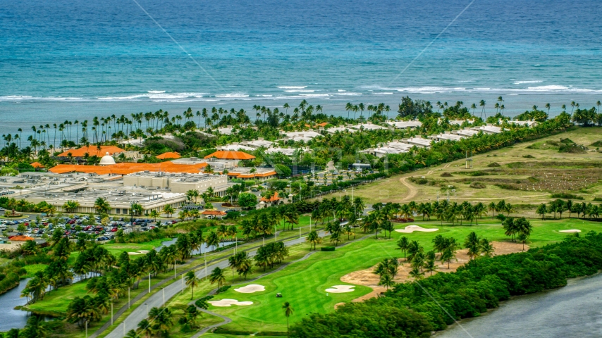 The oceanfront Gran Melia Golf Resort in Rio Grande, Puerto Rico Aerial Stock Photos | AX102_043.0000152F