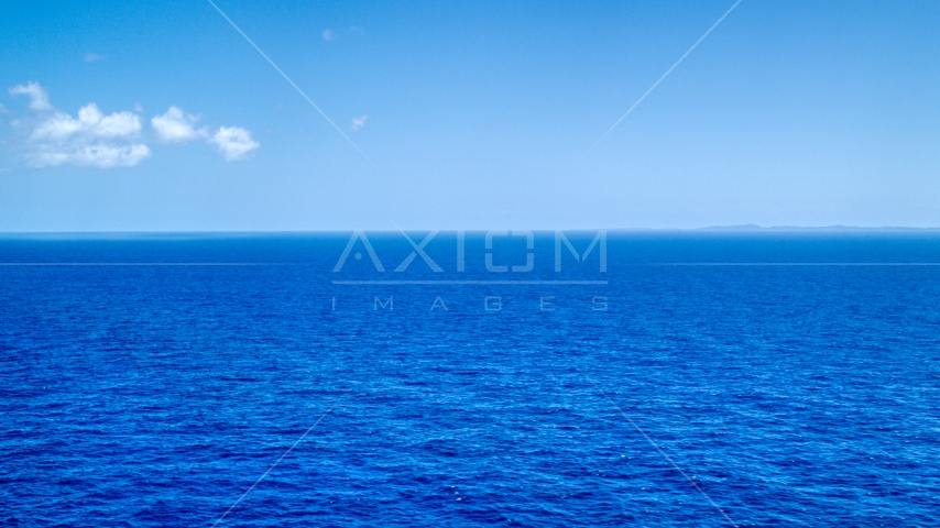 Sapphire blue ocean waters of the Atlantic Ocean  Aerial Stock Photos | AX102_096.0000000F