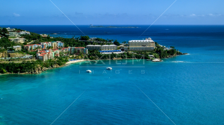 Marriott's Frenchman's Cove resort hotel in St Thomas, the US Virgin Islands  Aerial Stock Photos | AX102_231.0000270F