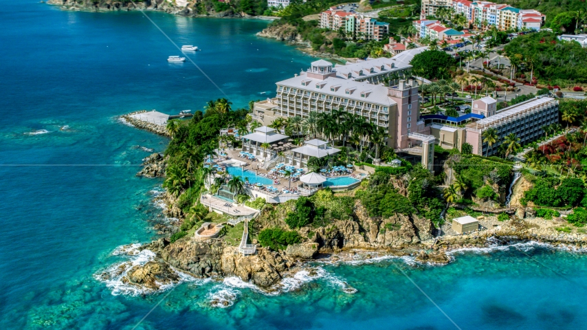 Marriott's Frenchman's Cove island resort, St Thomas, US Virgin Islands  Aerial Stock Photos | AX102_233.0000299F