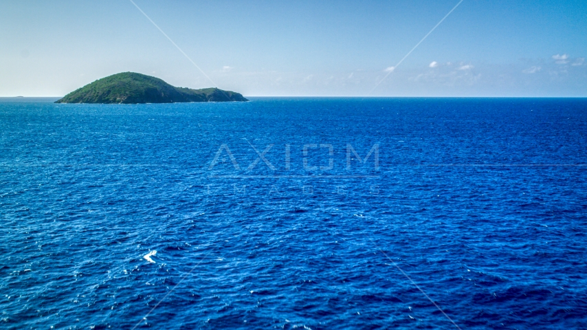 Outer Brass Island near St Thomas, US Virgin Islands Aerial Stock Photo AX102_278.0000374F | Axiom Images