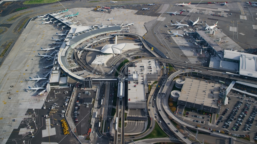 Terminals at JFK International Airport in New York City Aerial Stock Photos | AX120_064.0000083F
