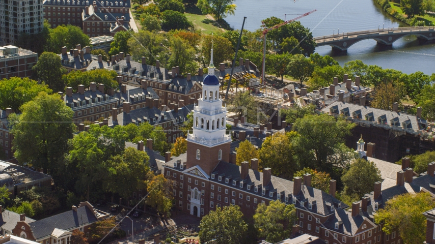 Lowell House at Harvard University in Cambridge, Massachusetts Aerial Stock Photos | AX142_084.0000201
